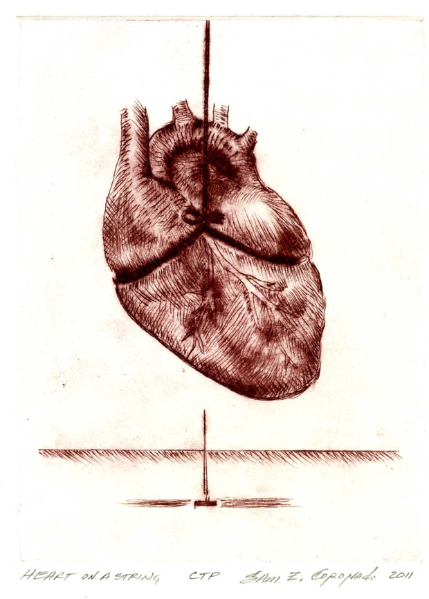 Heart on a string_Red
