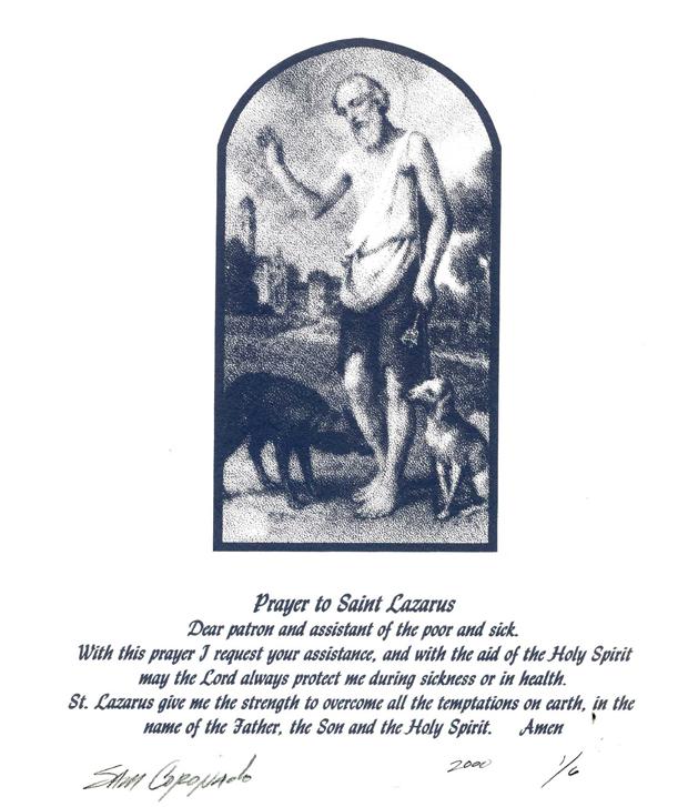 Saint Lazarus Sam Coronado